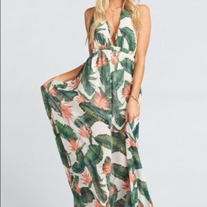 Show Me Your Mumu Luna halter maxi dress
